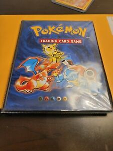 Pokemon Card Binder Vintage 1999 Nintendo Official WOTC TCG Charizard Used