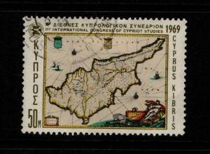 Cyprus 1969 International Congress 50 mil (High value) SG330 Used