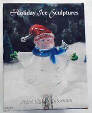 New In Box Night Light Snowman Acrylic Holiday Ice Scupture Heritage Mint