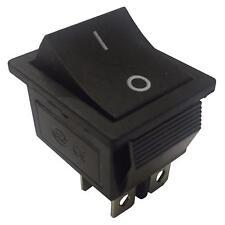 Black On-Off  Rocker Switch Momentary, Latching 16A 250VAC