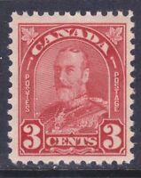 Canada 167 MNH OG 1931 3c Deep Red KG V Issue Very Fine