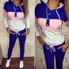 Womens Tracksuit Hoodies Jogging Sweatshirt Pants Set Sportswear Casual Gym Suit