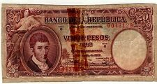 COLOMBIA NOTE $20  1927 REPAIRED