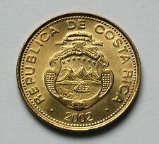 2002 COSTA RICA Aluninum-Bronze Coin - 50 Colones - AU++ lustre - KM#231.1a