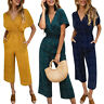 Women Polka Dot Beach Long Playsuit Romper Ladies Wide Leg Jumpsuit Summer