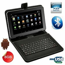 "XGODY 32GB 9"" Google Android 4.4 Quad Core Tablet PC WIFI Bundle Keyboard Case"