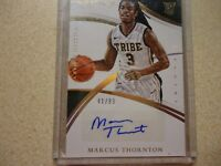 2015 IMMACULATE ROOKIE AUTO MARCUS THORNTON WILLIAM & MARY'S 41/99 NICE