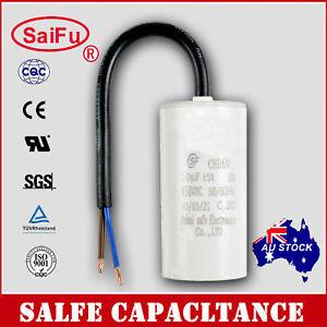 CBB60 Appliance Motor Run Capacitor wire Lead AC 450V 50/60Hz 10uF OZ SELLER