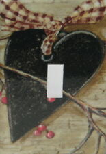 BLACK HEART BERRIES VINE SINGLE TOGGLE SWITCH PLATE COVER