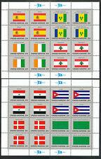 VN/UNO New York 521 - 536 postfrisse vellen   Vlaggen