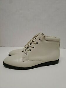 Cream Leather Boots 7M
