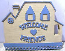 Welcome Friends~Chalkware/Plaster Wall Plaque~1989 Miller Studios