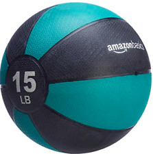 AmazonBasics Weighted 15 lb Medicine Ball for Full Body Workout Training