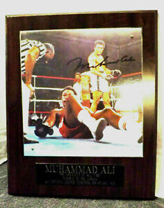 MUHAMMAD Ali vs GEORGE FOREMAN Photo/Plaque 1974 Rumble in the Jungle SIGNED