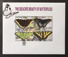 SIERRA LEONE BUTTERFLY STAMPS SHEET 2004 MNH BUTTERFLIES SWALLOWTAIL WILDLIFE