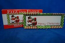 """FITZ  and FLOYD """"MERRY CHRISTMAS"""" SNOWMAN SERVING TRAY - 2006 - MIB"""