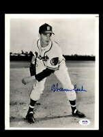 Warren Spahn PSA DNA Coa Hand Signed 8x10 Photo Boston Braves Autograph