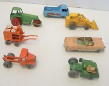Lot of Seven Vintage of Matchbox Lesney Cars Construction Farm