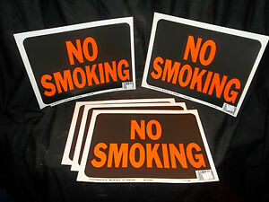 Plastic Sign No Smoking - Qty 5