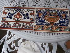 2 X Style Art Déco Carreau Art Nouveau Mosaïque dessous de verre Floral Rare Variation de Couleur