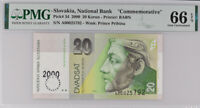 Slovakia 20 Korun 2000 P 34 Comm. Gem UNC PMG 66 EPQ