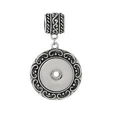 Snap Button Round Flower Pendant Fittings - Silvar Design