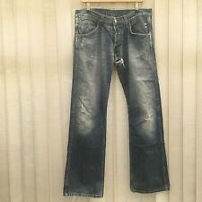 Vintage Wrangler Mens Bootcut Ripped Worn Blue Washed Denim Jeans Size 32/32