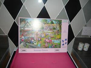 1000 piece jigsaw puzzle hop summer green