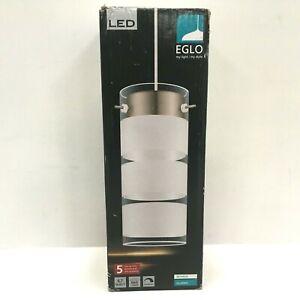 Eglo Olvero 6.7W LED Pendant Light, Matte Nickel, 600 Lumens, 120V, Dimmable