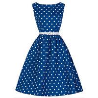 Women Retro Polka Dot Swing 1950s Housewife Pinup Vintage Rockabilly Party Dress