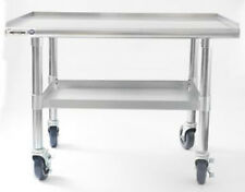 """NAKS 48""""x27"""" 16 Gauge Stainless Steel Equipment Stand w/ Undershelf and Casters"""