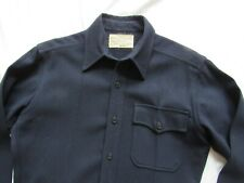 Vtg 40s Named WW2 1 Pocket USN CPO Shirt Sz 36 MINT SHAPE! WWII Anchor Buttons