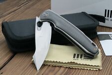 "WE Knife Co. Yucha Liner Lock Flipper Knife CF/Titanium (3.9"" Stonewash) 810E"