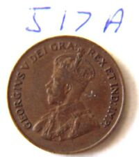 1921 Canada Canadian Small 1c (One) Cent Coin, Penny