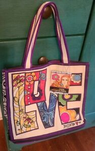 NEW with tags NWT Brighton Love Groove II Canvas Beach Tote Bag $100 Retail