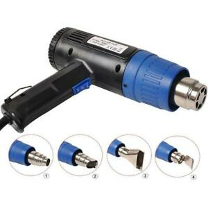 Heat Gun Hot Air Gun Dual Temperature 4 Nozzles Power Tool 1500 Watt