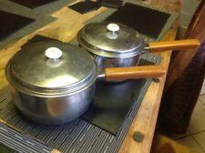 Vintage Prestige Acier Inoxydable Cuisson Pots x 2