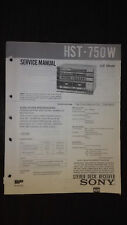 Sony hst-750w service manual original repair book stereo receiver radio