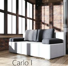 Schlafsofa Carlo – unglaublich günstig und gut aussehend.  Mit Farbauswahl.
