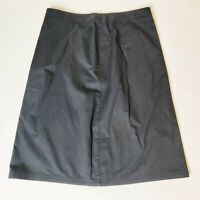 Vintage St Michael Black A Line Casual Everyday Cotton Skirt Plus Size 18