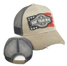 American Brand Patriot Hat w/ Don't Tread on Me on US Flag Patch