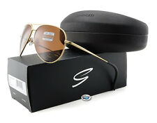 New Serengeti CARRARA 8296 Sunglasses | Satin Soft Gold / Polarized Drivers Lens
