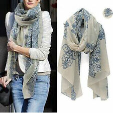 Summer Spring Soft Stole Long Voile Shawl Scarves Wrap Chiffon Cotton Scarf