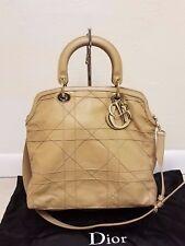 Christian Dior CD Granville Tan Beige Handbag Shoulder Bag very good cond