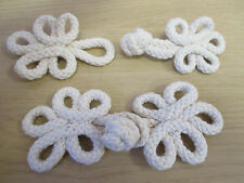 """1 Large Fancy Cream Toggle 14cm 5.5"""" - Woven Cord Rope Natural Cotton"""