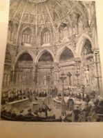 H9-1 Ephemera 1895 Picture The Guildhall London Council Chamber