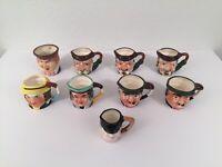 Lot Of 9 Vintage Toby Mugs