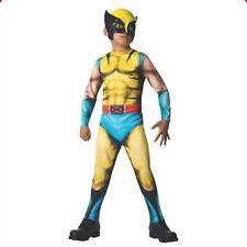 Marvel Wolverine Boy's Costume Rubies X-Men Avengers Muscle Bodysuit Mask Size L