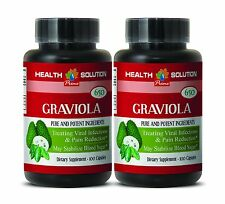 Supports Blood Sugar Level - GRAVIOLA EXTRACT 650 - Pure graviola 2 Bottles