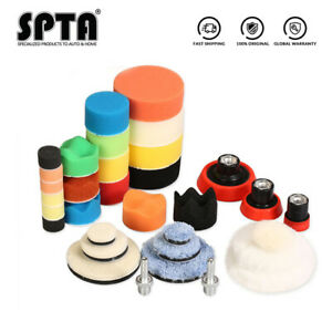 SPTA 1''2''3'' Polishing Pads Buffing Pads Backing Pads M14 Drill Adapter